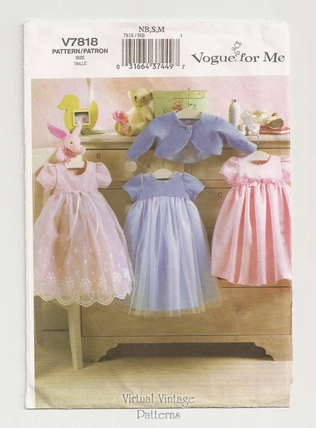 Vogue V7818, Baby Girl Dress Pattern