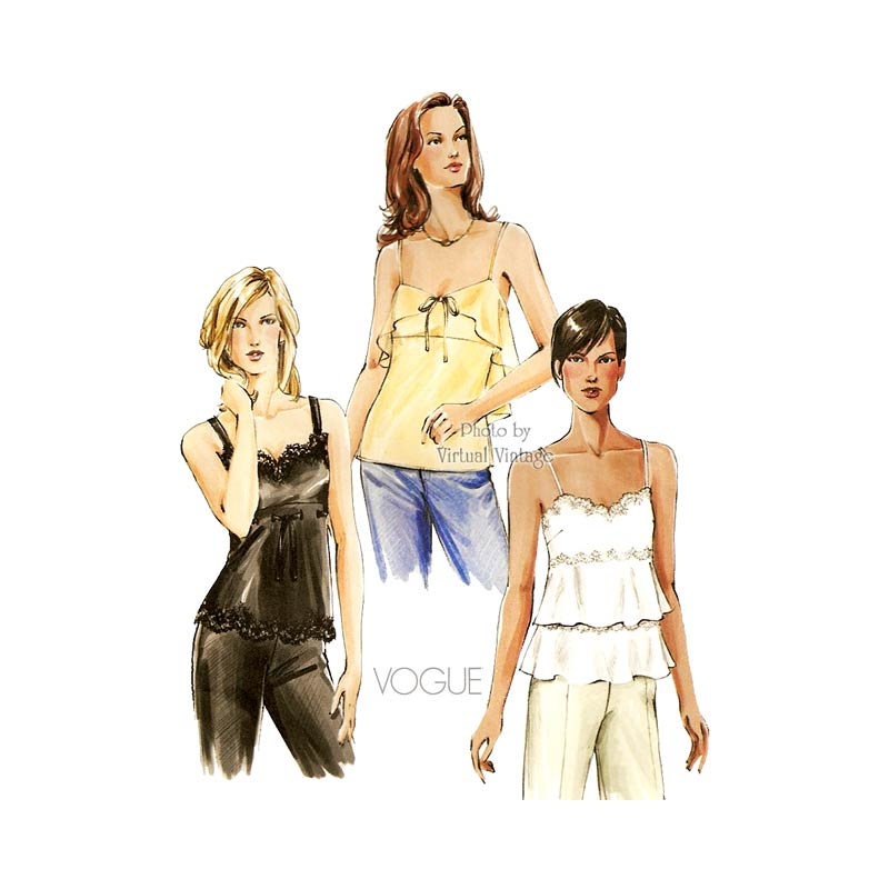 Camisole Top Sewing Pattern, Vogue V7902
