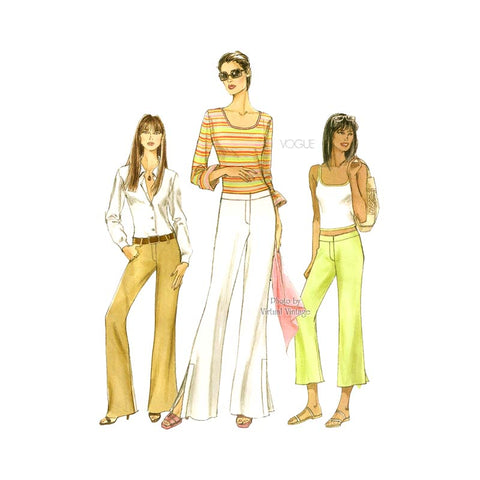 Womens Pants Pattern, Vogue V8041