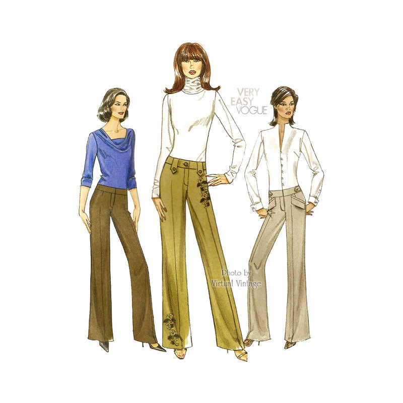 Easy Pants Pattern for Women, Vogue V8456