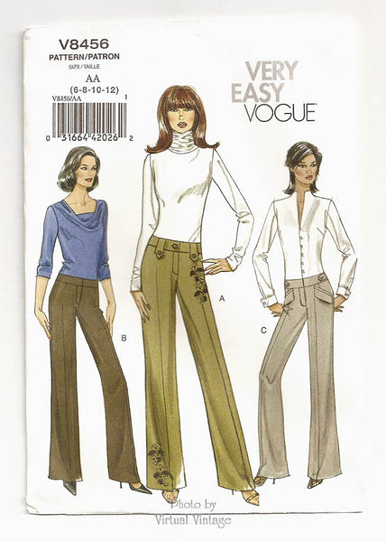 Very Easy Vogue V8456, Womens Pants Pattern