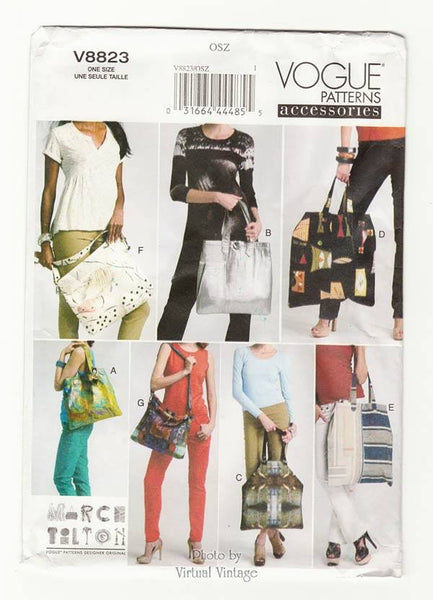 Vogue V8823 womens tote bags pattern