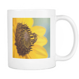 honey bee sunflower mug