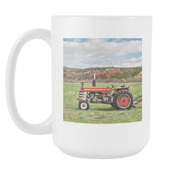 15 oz Massey Ferguson Tractor Mug, Gifts for Farmers, Ceramic Coffee Cup