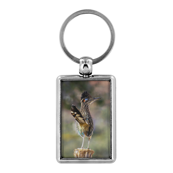 Greater Roadrunner Keychain, Double-sided Photo Keyring, Bird Watcher Gifts,