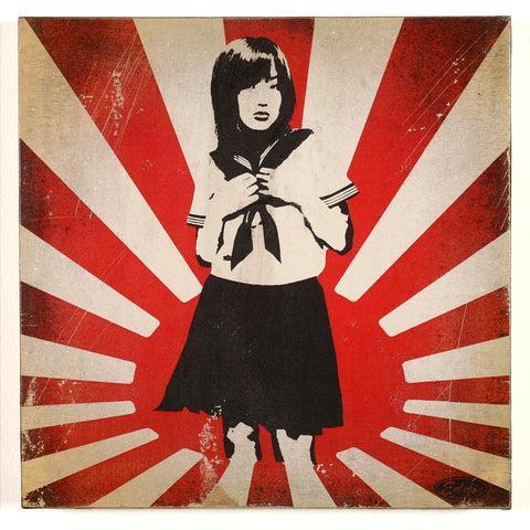 Japanese School Girl Flag
