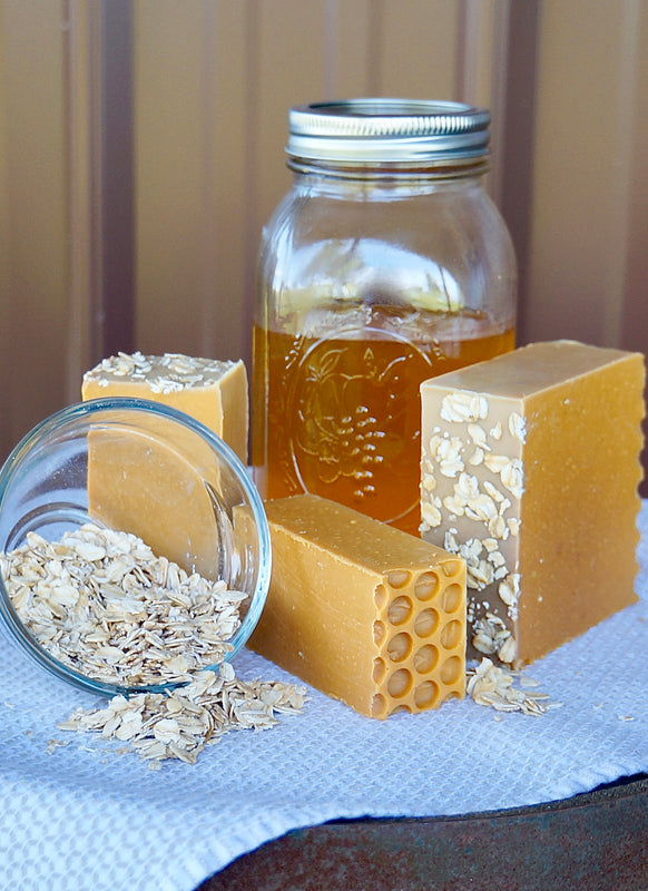 Raw Honey & Oats Handmade Goat Milk Soap