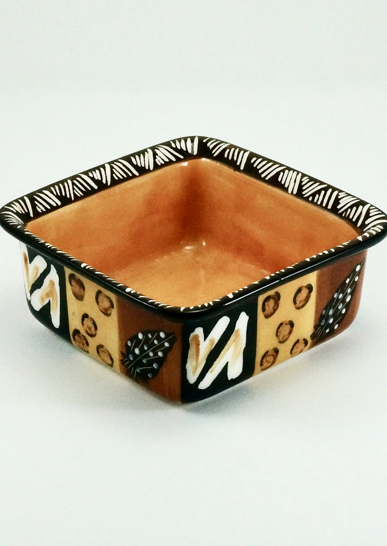 Kapula Animal Print Ceramic Square Dish