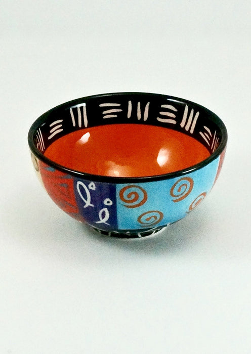 Kapula Multi-Cultural Ethnic Ceramic Bowl