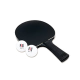 PRO Ping Pong paddle with two balls outside the box