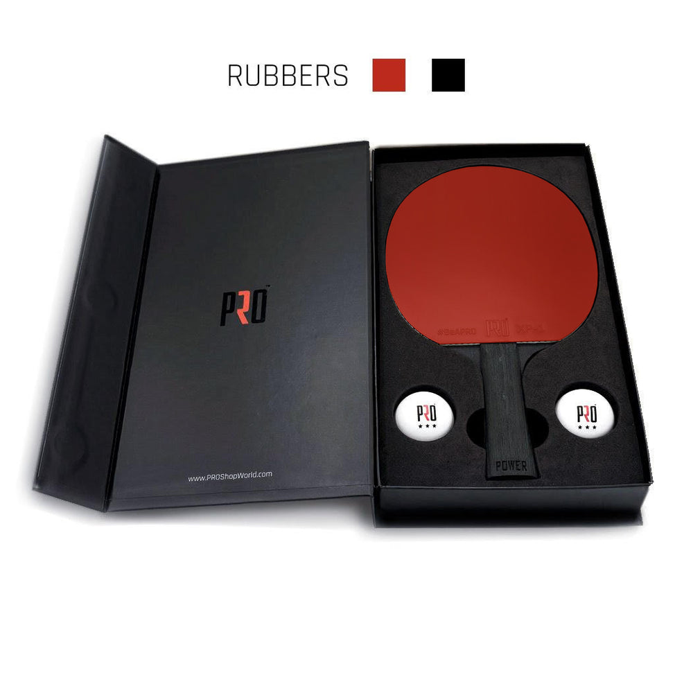 PRO Power Ping Pong paddle with red and black rubbers