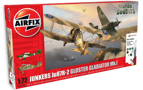 Junkers JU87R-2 Gloster Gladiator Dog Fight Double Gift Set 1:72
