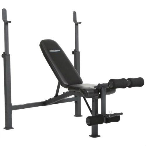 Steel Frame Weight Bench with Adjustable Height Bar Chest Press Incline Decline