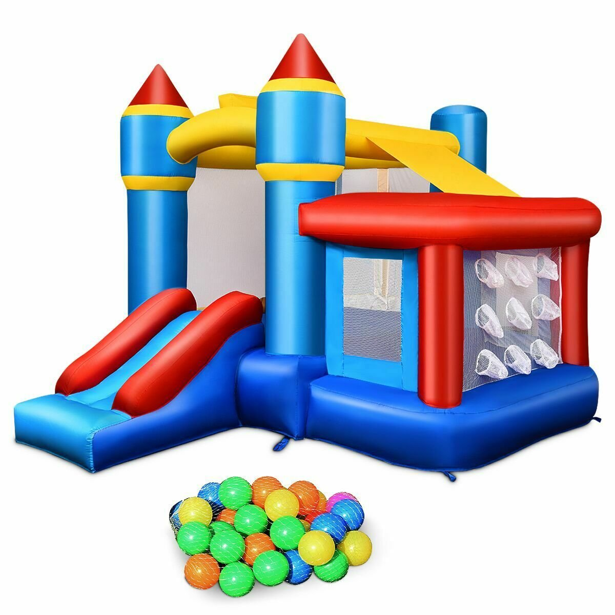 Inflatable Bounce House Castle with Balls & Bag