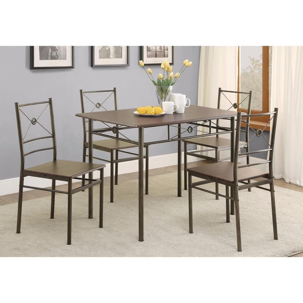 Dining Table Set Of Five, Bronze