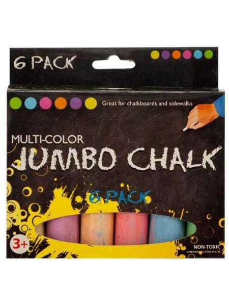 Multi-Color Jumbo Chalk Set (Available in a pack of 24)