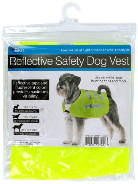 Reflective Dog Safety Jacket (Available in a pack of 12)
