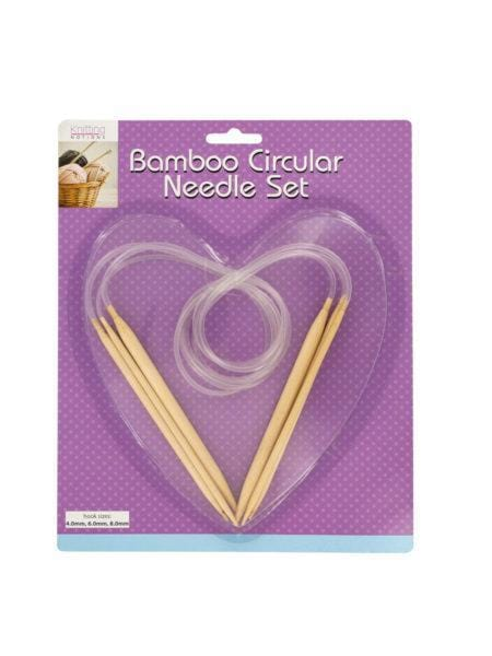 Bamboo Circular Knitting Needle Set (Available in a pack of 8)