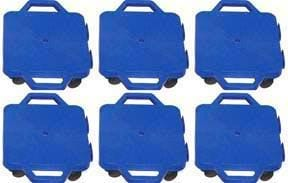 "Connect-A-Scooters (nylon casters) - 16"" (Set of 6 Blue)"