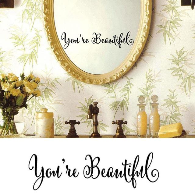 You Re Beautiful Wall Wall Sticker Art Removable