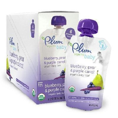 Baby Meals & Snacks Plum Organics Blu-pear-c (6x4oz ) 890180001979 BWC27631