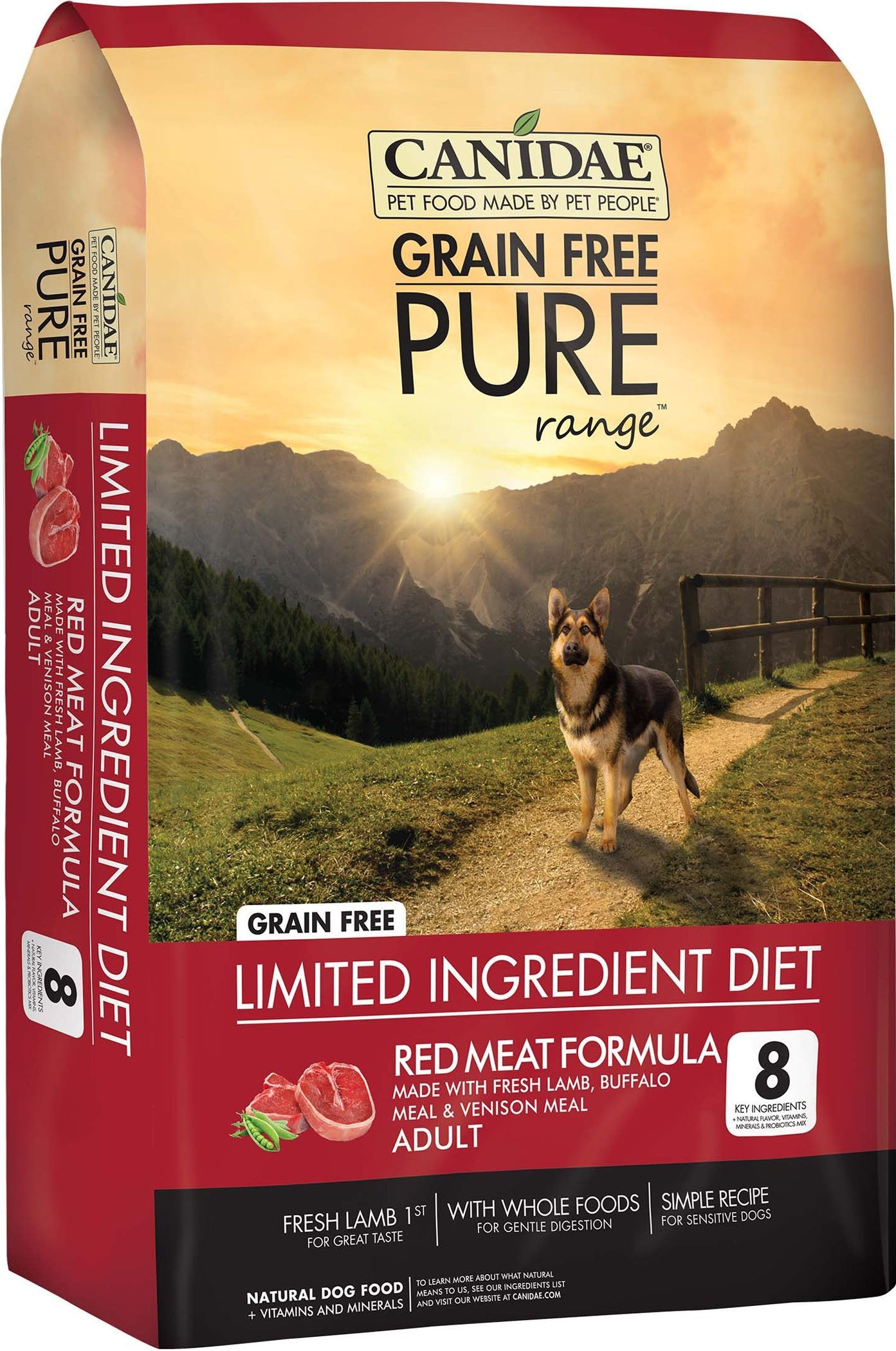 Dog Food Canidae Pure Range Red Meat Formula Dry Dog Food 640461018413 TP012163