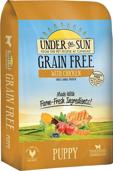 Dog Food Under The Sun Grain Free Puppy Dry Dog Food 640461821891 TP012018