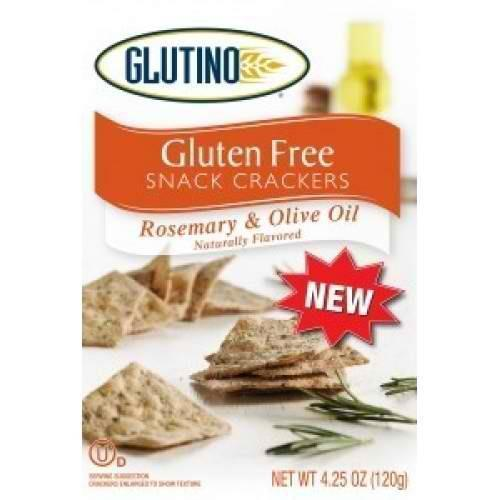 HER CRATE Glutino Rosemary & Olive Oil Crackers (6x4.25 Oz) 678523038611 B39771