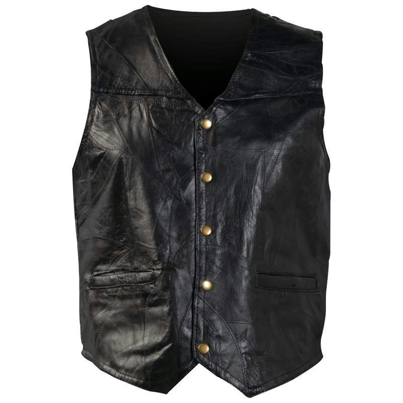 His Vests 3X Giovanni Navarre® Italian Stone Design Genuine Leather Vest 024409085307 BFGFVXXXL