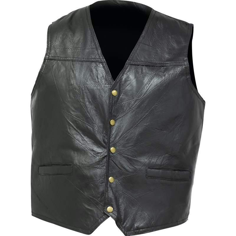 His Vests Extra Large Giovanni Navarre® Italian Stone Design Genuine Leather Concealed Carry Vest 024409506598 BFGFVGPXL