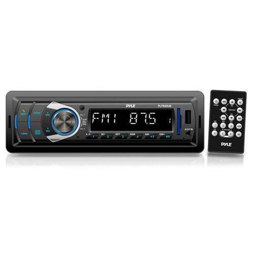 Stereos In-Dash Bluetooth Digital Receiver Headunit with USB/SD Card Readers, MP3/AUX-Input, AM/FM Radio, DC 12-24V Dual Voltage System Compatible with Car, Bus, Truck, RV, etc. 068888750493 W290-RBPLTR25UB
