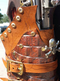 Custom made leather holster for nerf Maverick / Hammershot /Sweet Revenge blasters... Steampunk Style !!