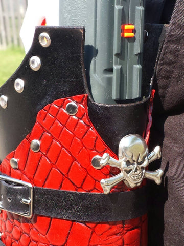 Custom made holster for Maverick / Hammershot /Sweet Revenge blasters... Steampunk / Vampire Style !!