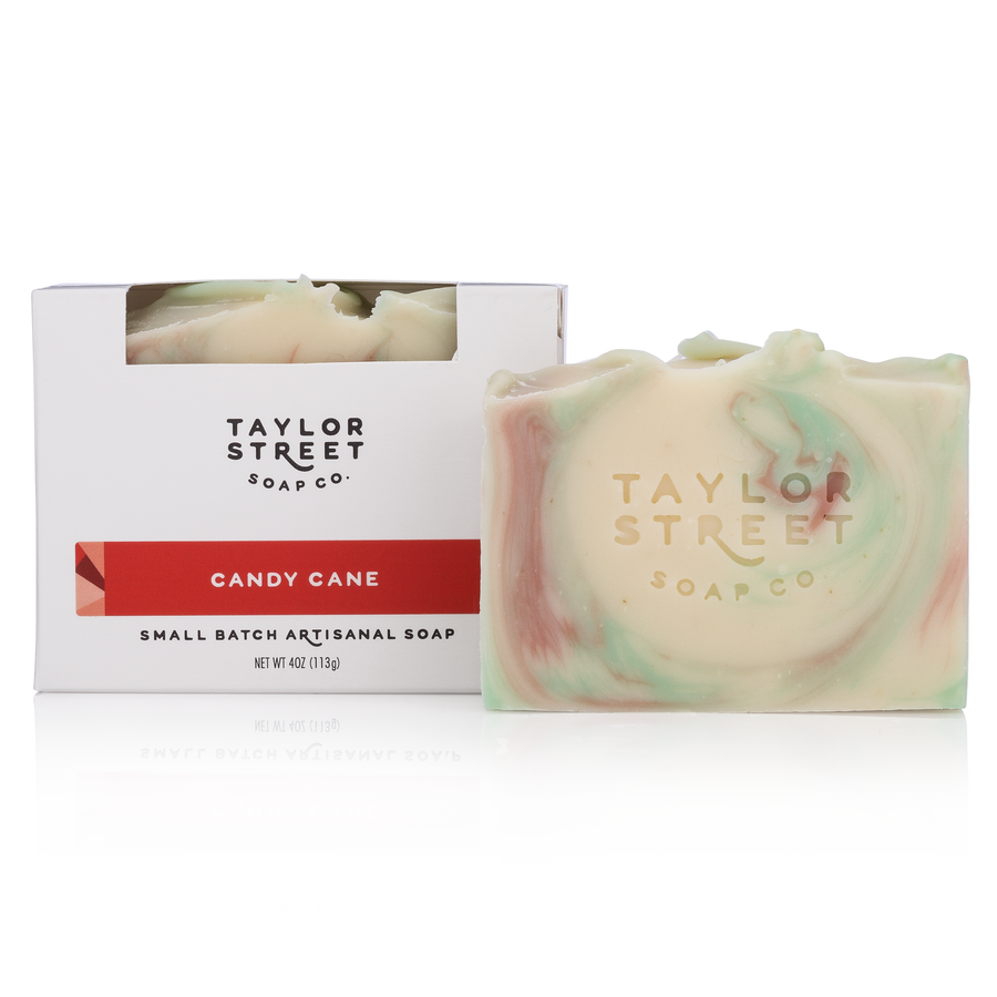 Candy Cane Soap Bar