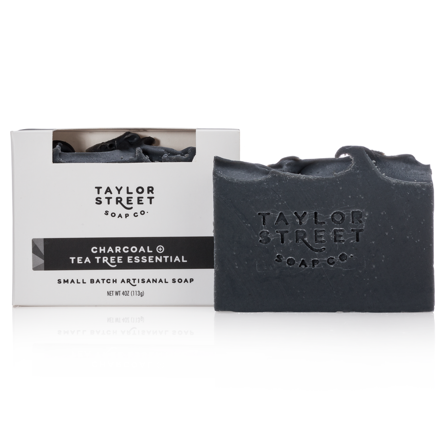 charcoal and tea tree essential oil soap