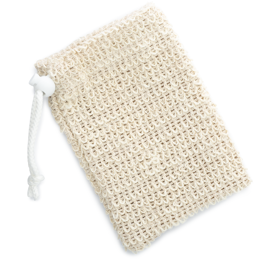 empty sisal soap bag