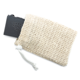 sisal soap bag with soap bar