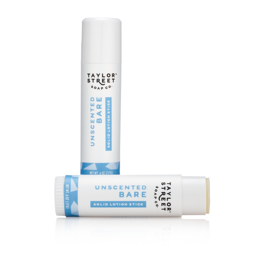 unscented scent free solid lotion stick
