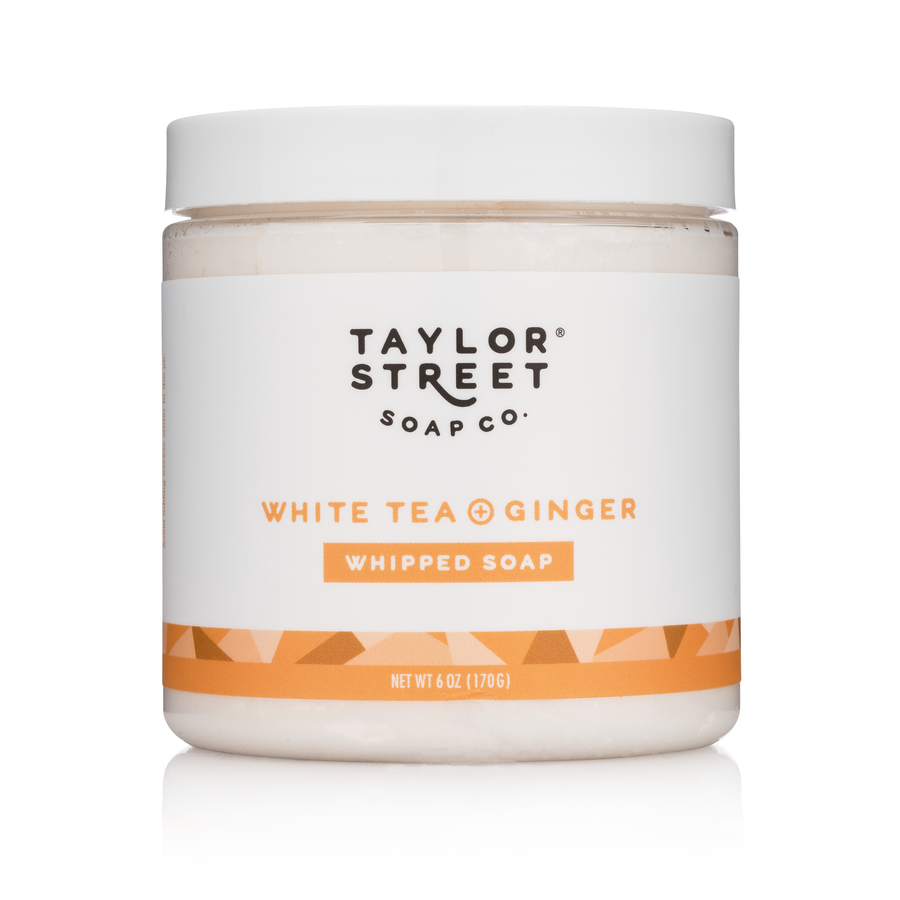 white tea and ginger whipped soap