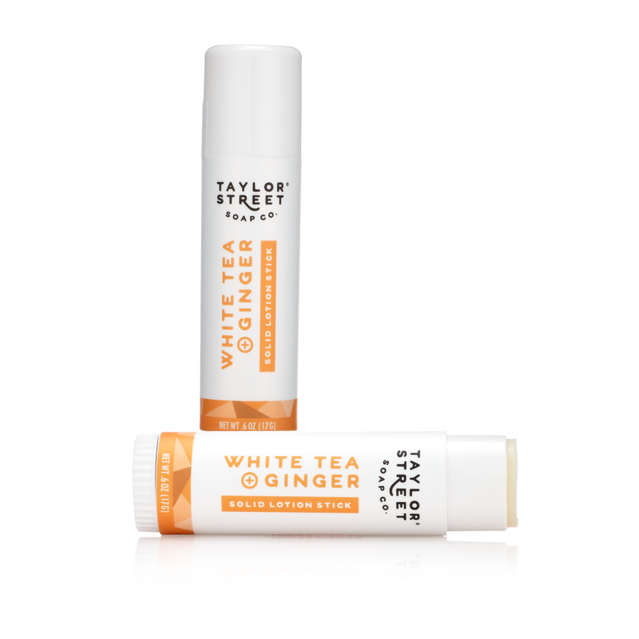 white tea ginger solid lotion stick