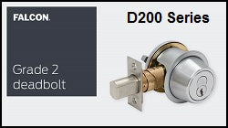 Falcon D200 Series Grade 2 Deadbolt Locks