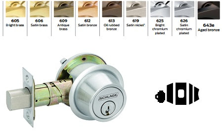 Adjustable backset with lock-in-place helix design u2022 Integrated anti-pry shield protects latch u2022 Thicker metal security strike back-up on jamb side ...  sc 1 st  Barzel Lock & Schlage B571 Door Bolt Occupancy Indicator u2014 Barzellock.com