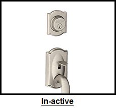 Schlage In-active Handlesets