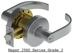 Hager 2500 Series Lever Locks