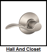 Hall And Closet Lever Locks