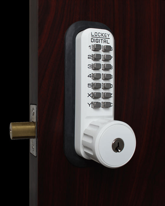 LockeuUSA 2210 Key Override Mechanical Keyless Combination Deadbolt Lock