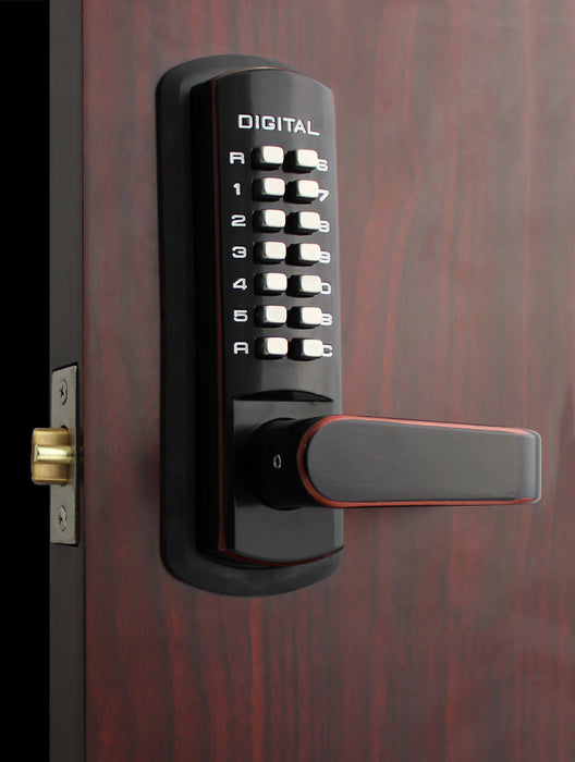 LockeyUSA 3835DC Double Combination Lever Lock with Passage Function