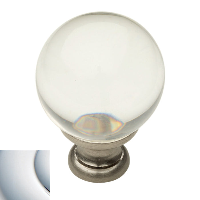 "Baldwin 4301 1.19"" Smooth Crystal Knob - Barzellock.com"