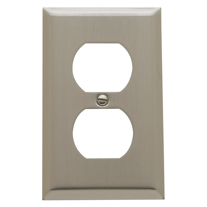 Baldwin 4752 Single Outlet Beveled Switch Plate - Barzellock.com