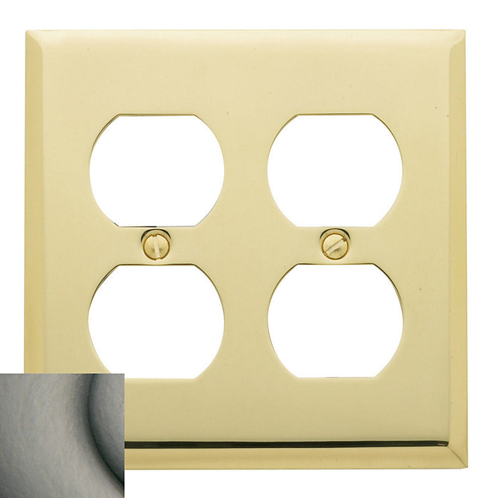 Baldwin 4771 Double Outlet Beveled Switch Plate - Barzellock.com